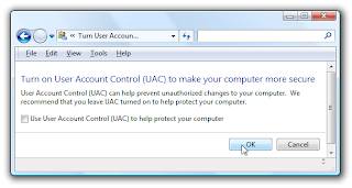 Disable UAC Windows Vista