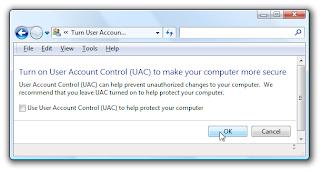 Disable UAC Windows Vista