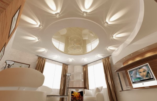 15 false ceiling designs with ceiling lighting for small rooms for Decoration placoplatre