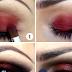 Alluring Red & Black Eyeshadow Tutorial