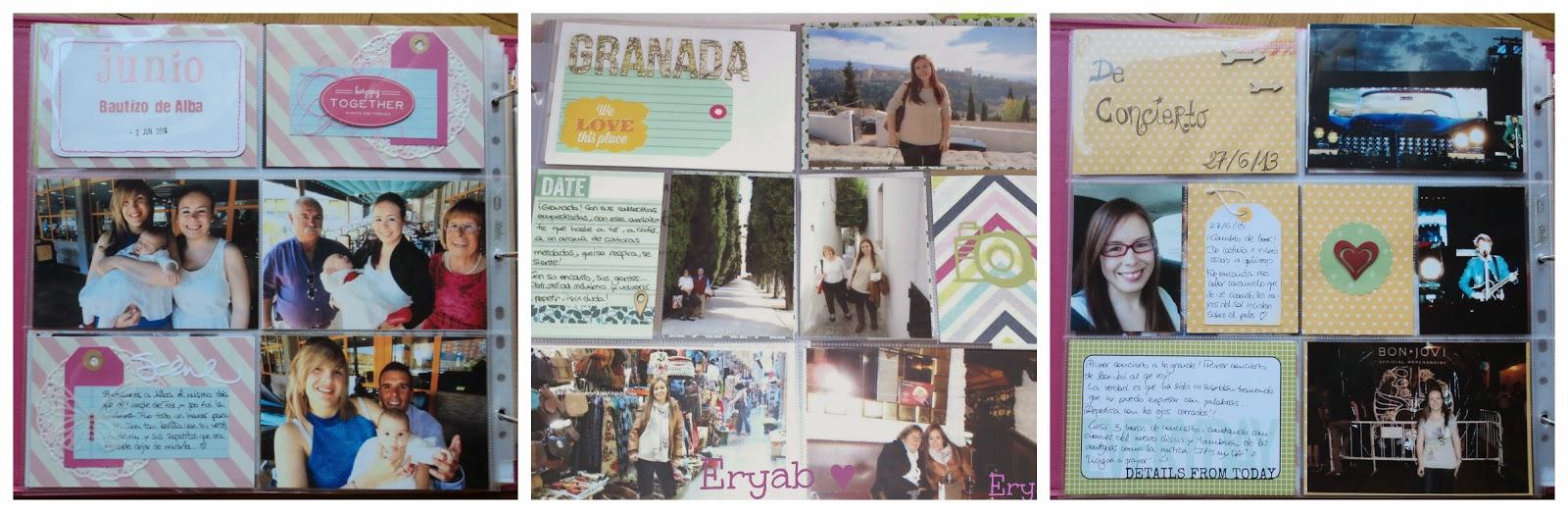 páginas project life junio y noviembre