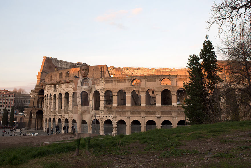 01-Colosseum-Italy-Trina-Merry-Architecture-meets-Body-Painting-in-Lost-in-Wonder