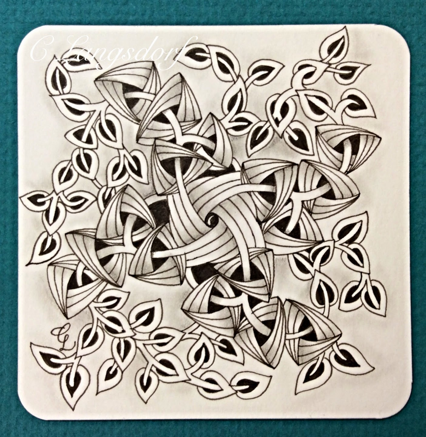 Alphabee tangles zentangle tiles for Zentangle tile template
