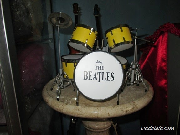 Jual Miniatur Drum The Beatles Kuning Polos