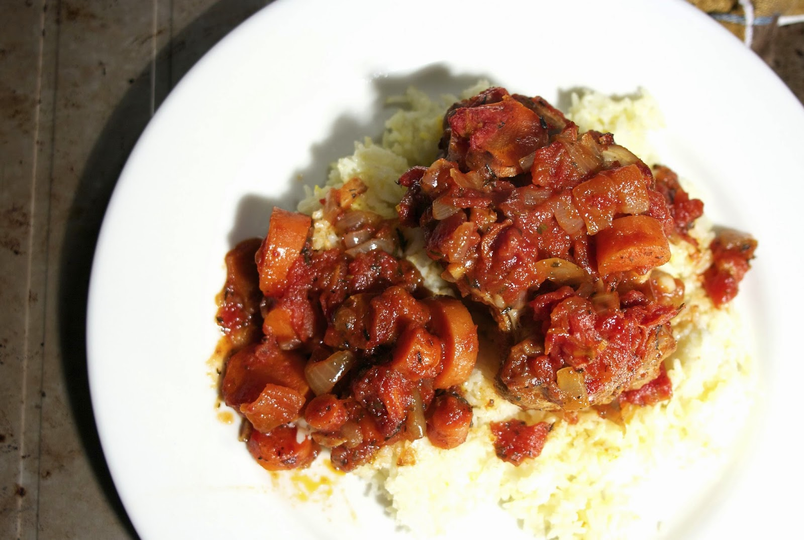 Osso Buco in a Tomato Orange Sauce: Osso Buco a l arman: simplelivingeating.com