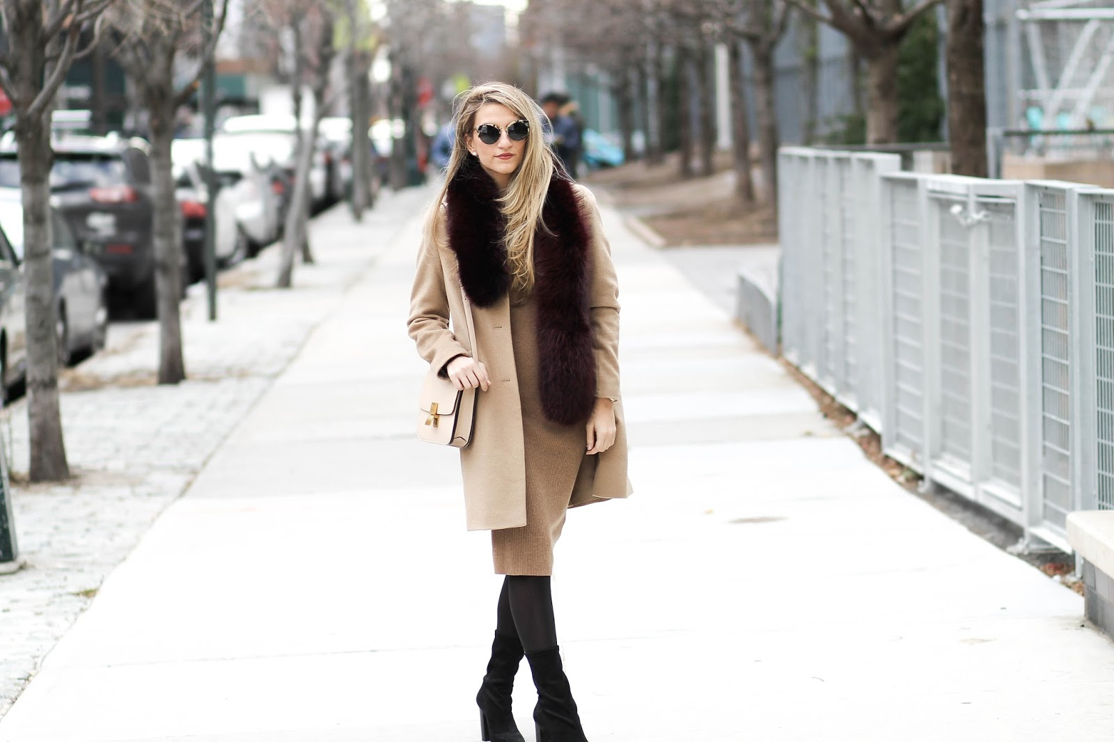 women's camel coat