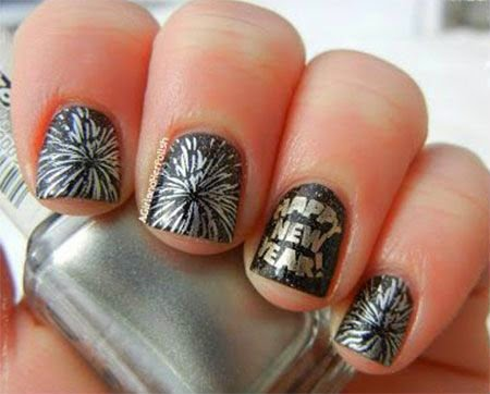 Happy New Year Nail Painting Ideas Beautiful Nail Art For New Year