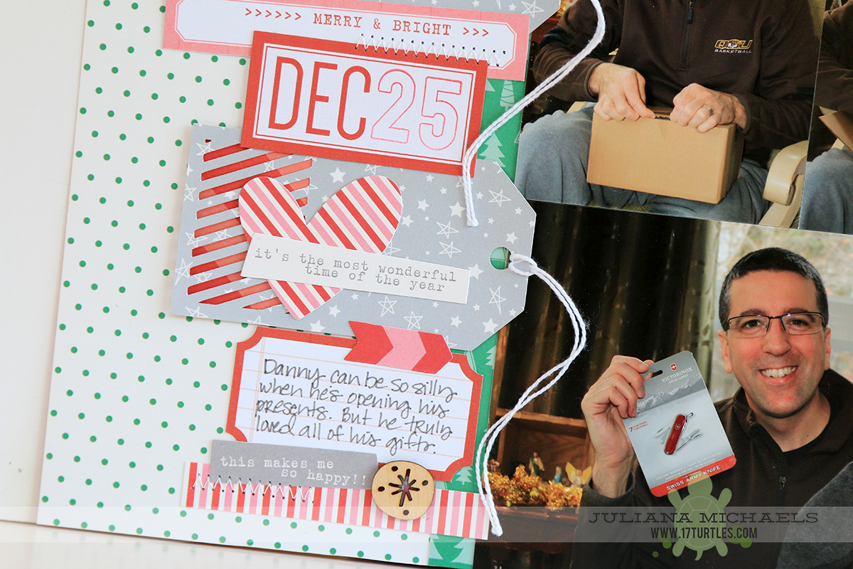 Merry Christmas Scrapbook Page by Juliana Michaels for Elle's Studio