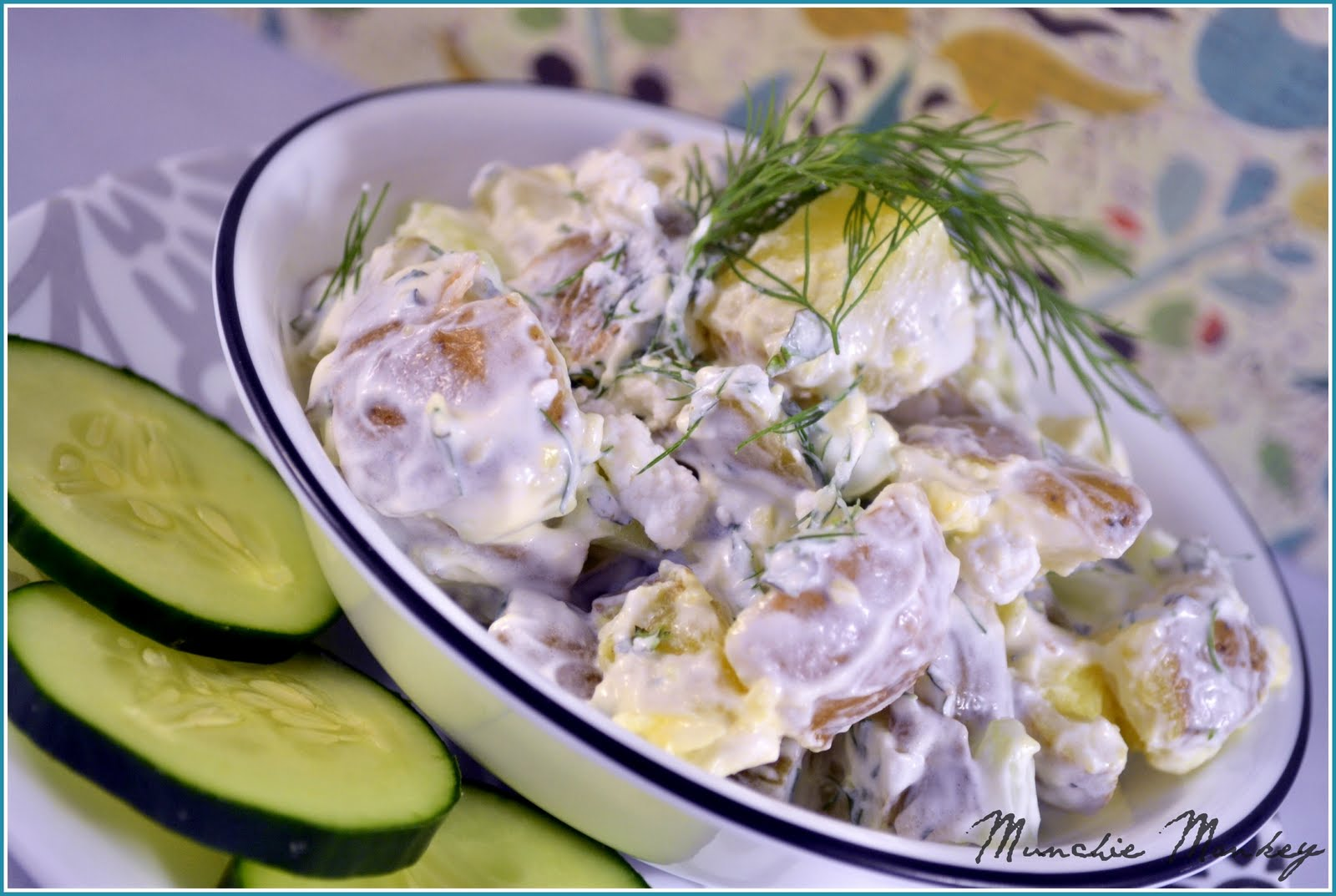 munchie monkey: Daring Cooks: Tzatziki Potato Salad