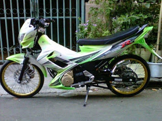 Modifikasi satria fu air brush 6