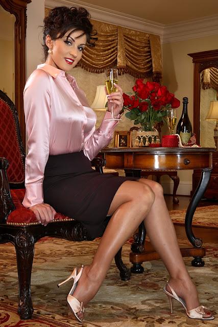 Сексуальные секретарши в чулках