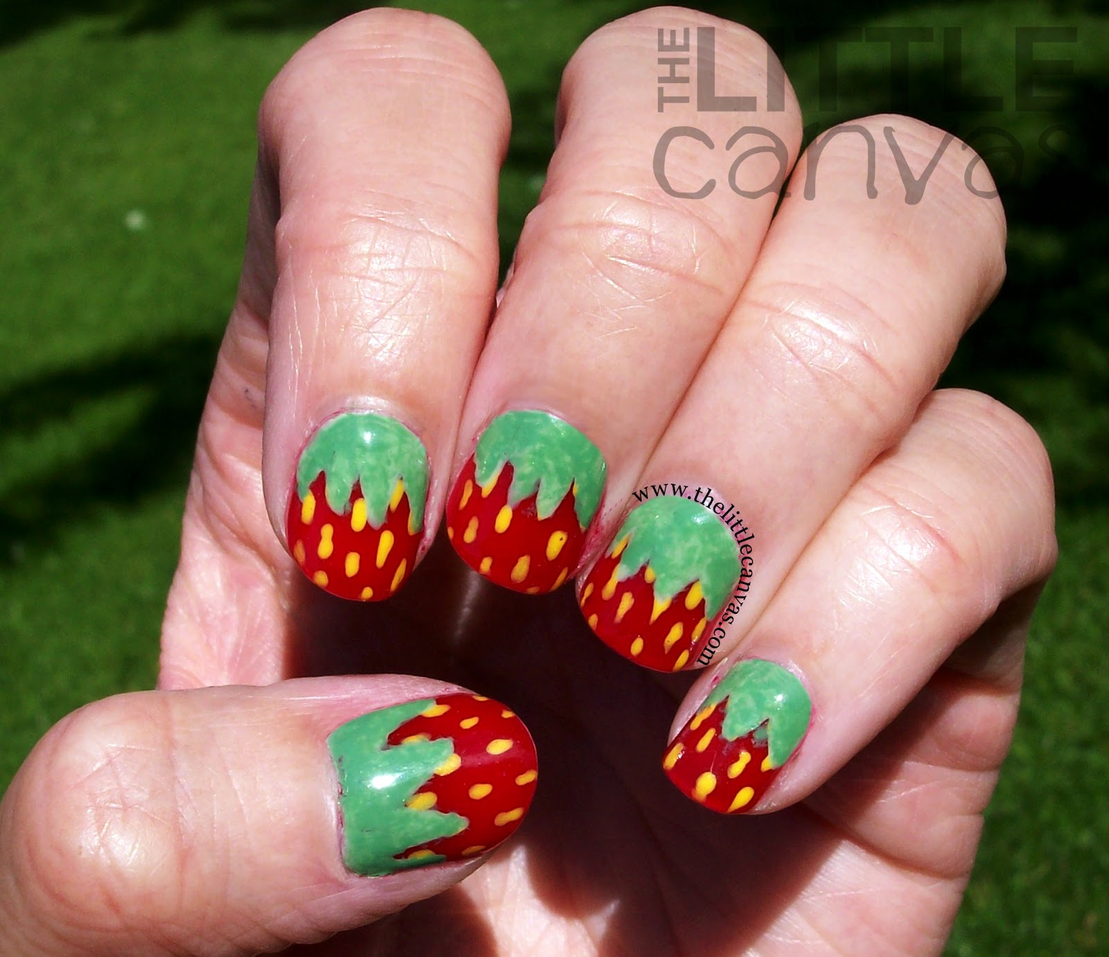 Toe nail designs strawberry cute strawberry nail art designs d strawberry nail art tutorial view images prinsesfo Image collections