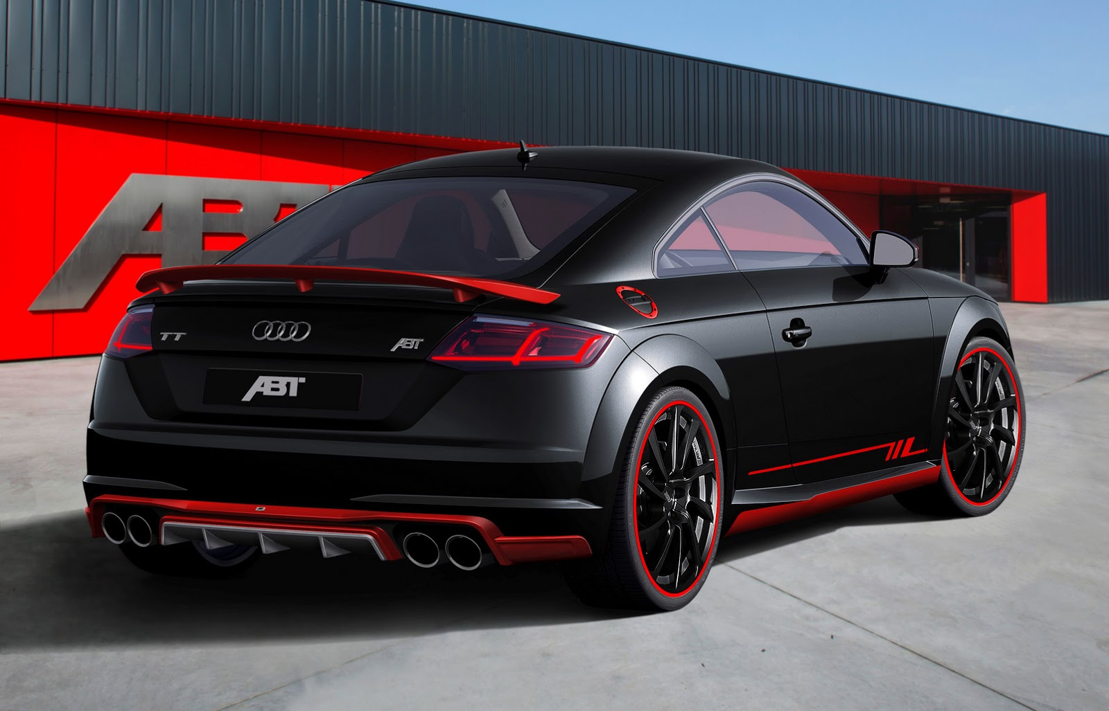 New audi tt earns its first abt tuning stripes carscoops for Interieur tuning auto