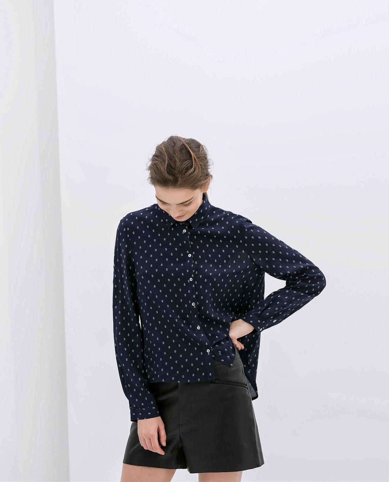 zara anchor shirt