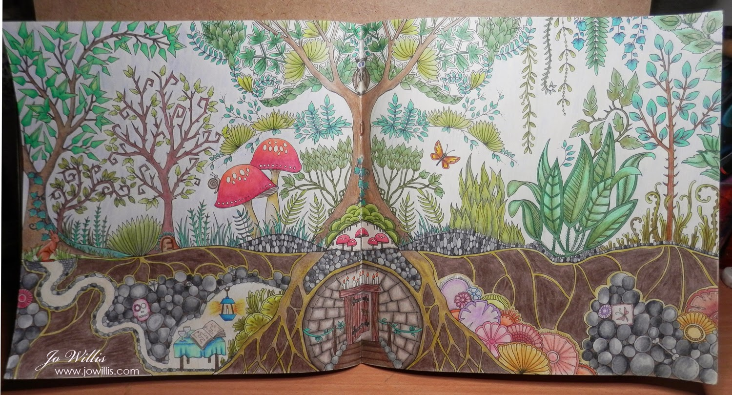 Enchanted forest coloring book website - This Is From Johanna Basford S Enchanted Forest Book Using A Mix Of Spectrum Noir Pencils And Prismacolor Pencils