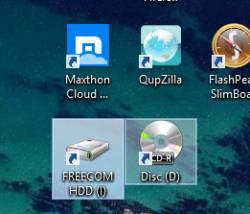 tool windows automatico icona USB e CD