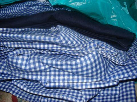 uniforms and clothings for the orphan kids.