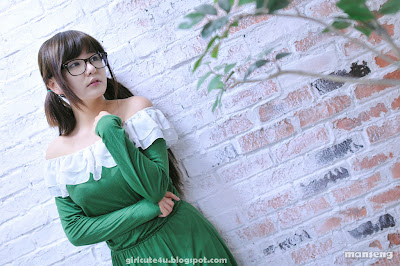 1 Ryu Ji Hye in Green-very cute asian girl-girlcute4u.blogspot.com