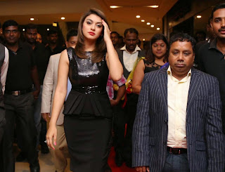 Actress Hansika Motwani Latest Pictures in Black Dress at iphone 6 Launch  20.jpg
