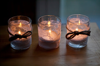Rustic Romantic Lace Satin And Twine Candle Holders