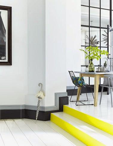 10 id es originales pour peindre son int rieur blog d co - Couleur mur escalier ...