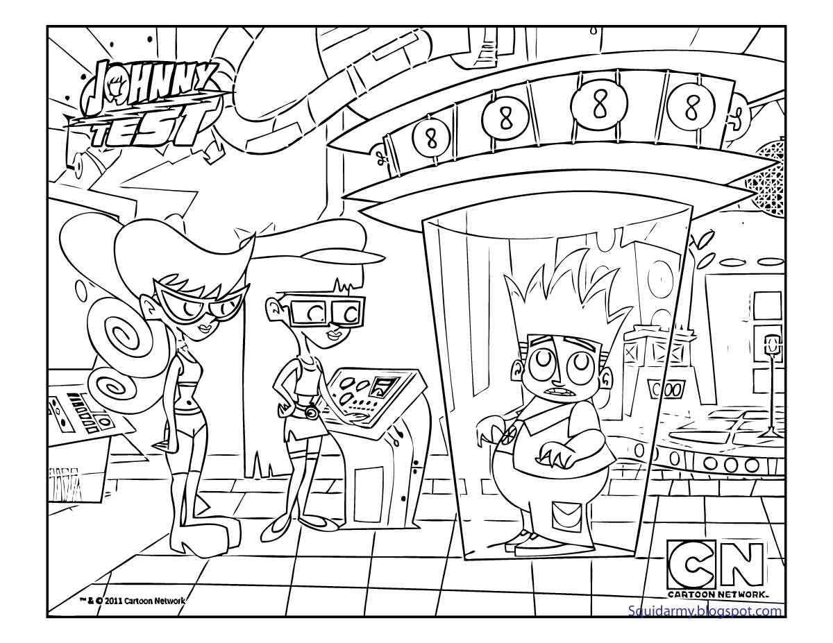 johnny test coloring pages - photo#31