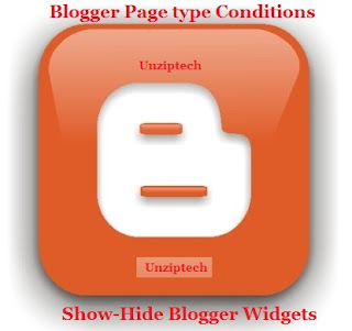 blogger page type conditions
