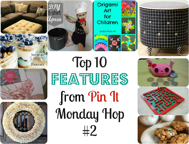 Top 10 Features From Pin It Monday Hop#2. Collage photos of 10 projects