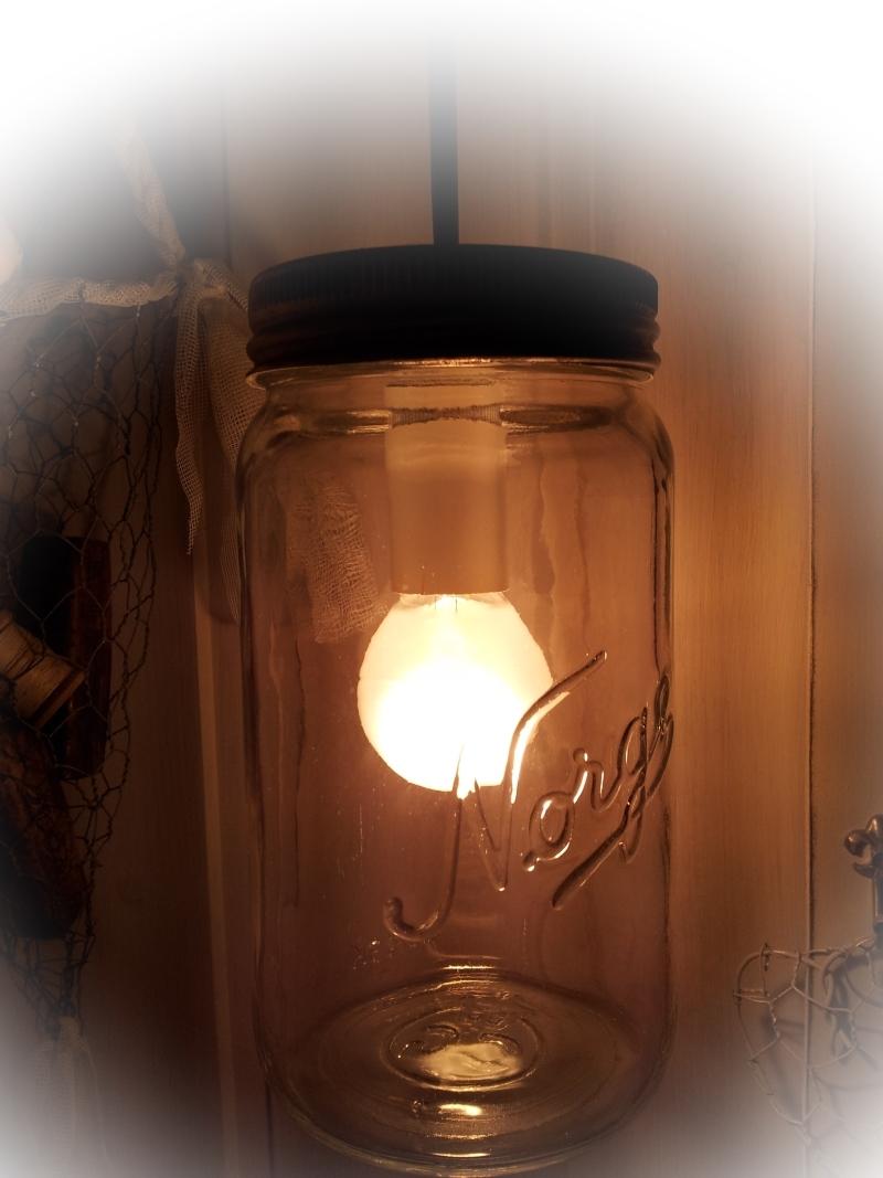 Alvas hobby: lampe av norgesglass
