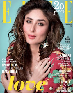 Kareena Kapoor Khan Cover Page of Elle magazine February 2016 issue