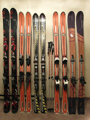 2010-2011 ski quiver, from The SnowWay.com