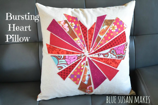 """Bursting"" Heart Pillow"
