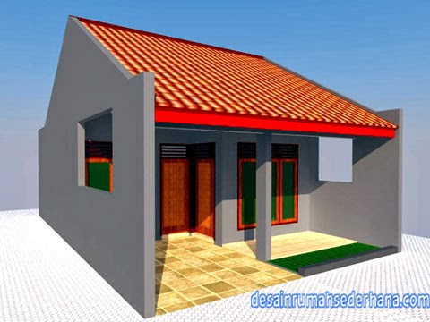 desain rumah 1 lantai - sudut kiri a3