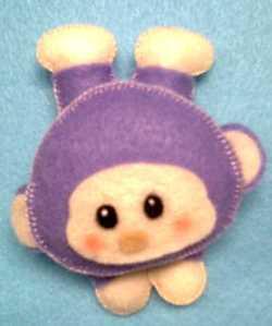 gambar boneka dari kain flanel