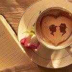 Kahve falında karşılıklı iki insan görmek