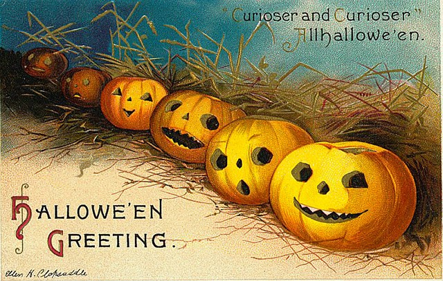 A Collection of 25 Strange and Creepy Vintage Halloween Postcards ...