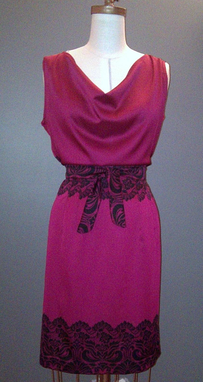Jianel maison de couture robe cerise - Robe de maison simple ...