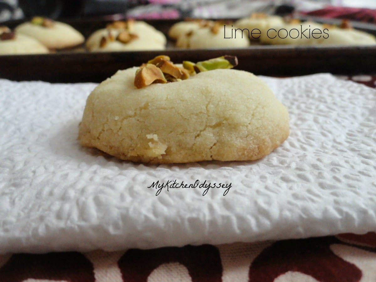 Easy lime cookie