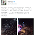 The crowd at Davido's shows...wishes his mum was still around!