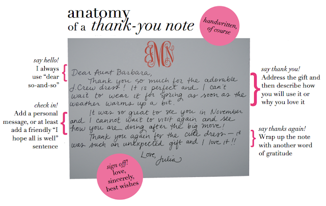 the preppy diaries   anatomy of a thank