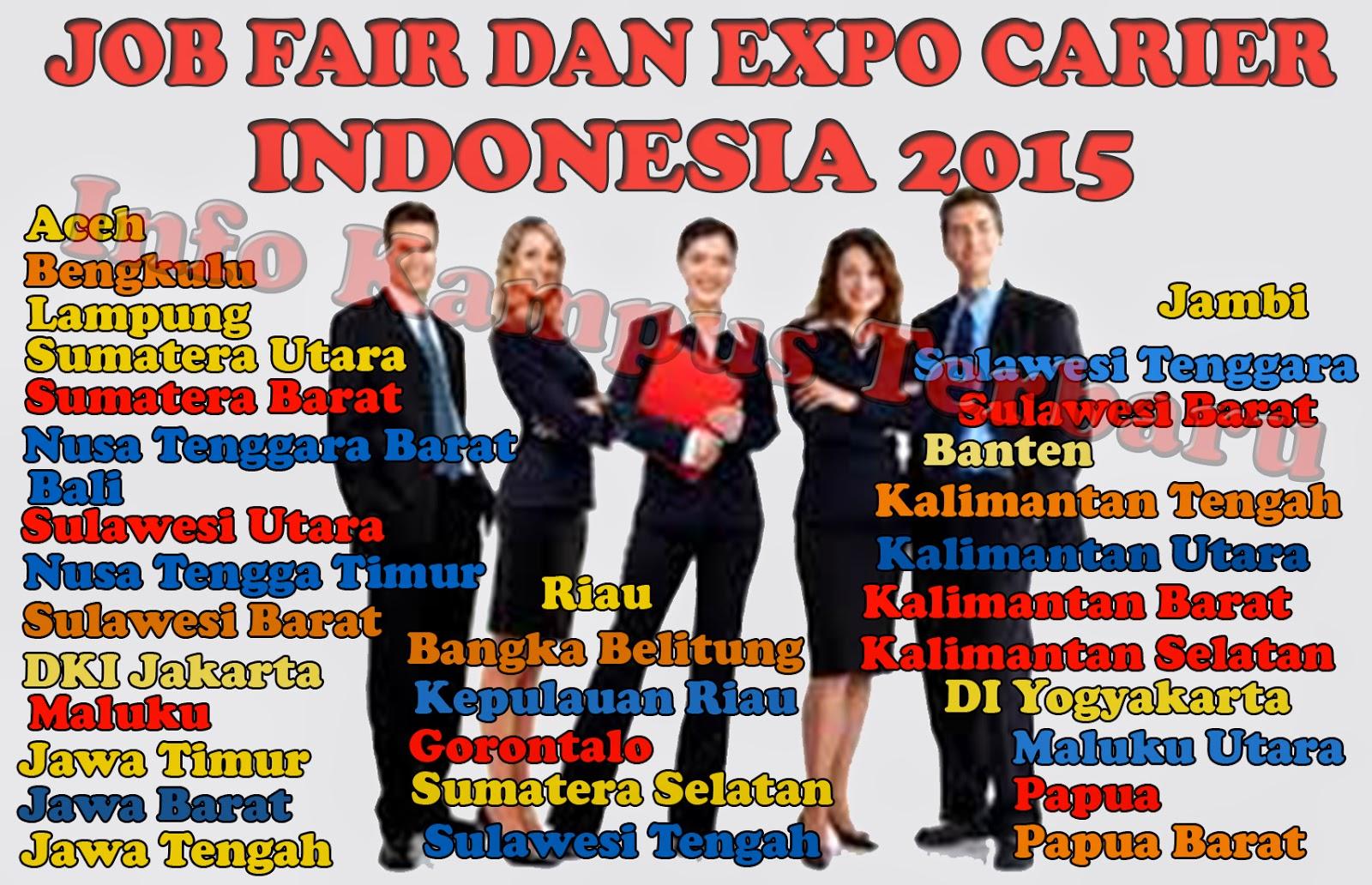 Jadwal Lengkap Job Fair Tahun 2015