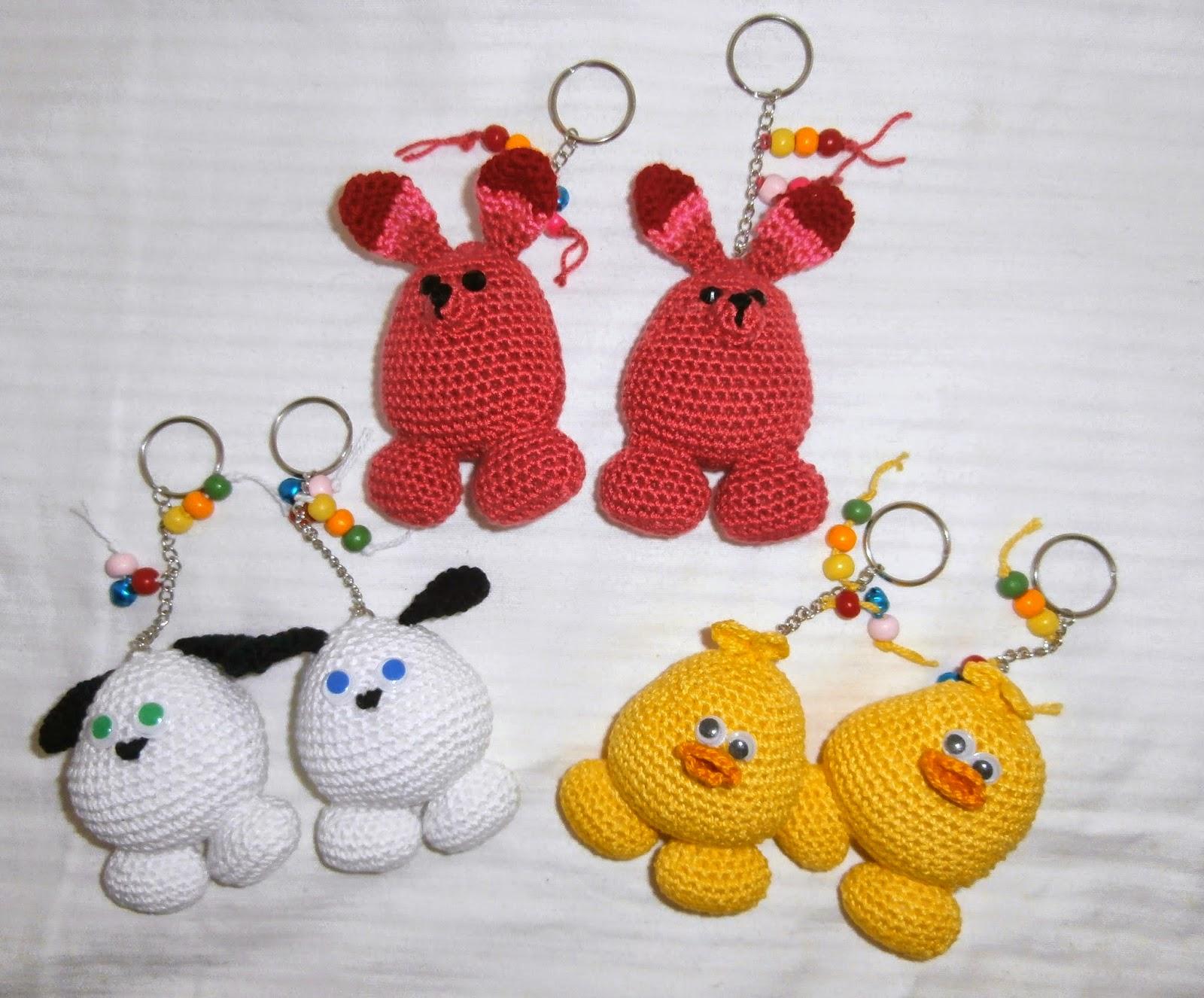 Amigurumis Pequeños Para Llaveros : Cositas a ganchillo animalitos en llaveros y lapiz a crochet