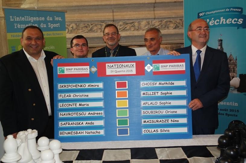 Le tirage au sort des appariements du championnat de France d'échecs 2015 © FFE