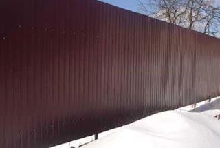 Забор из профлиста. Фото 5
