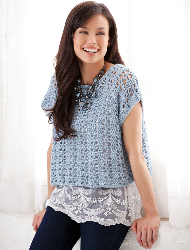 Free Patterns Crochet Tops : Miss Julias Patterns: Free Patterns All About Lace Crochet