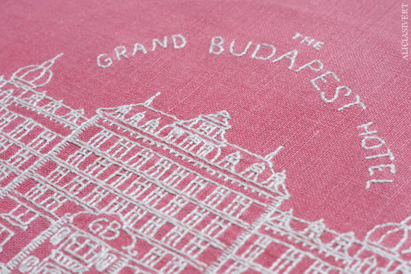 aliciasivert, alicia sivert, alicia sivertsson, the grand budapest hotel, wes anderson, broderi, embroidery, needlework, textile art, stitch, handicraft, craft, hantverk, handarbete, hemslöjd, slöjd, diy, film, movies, movie