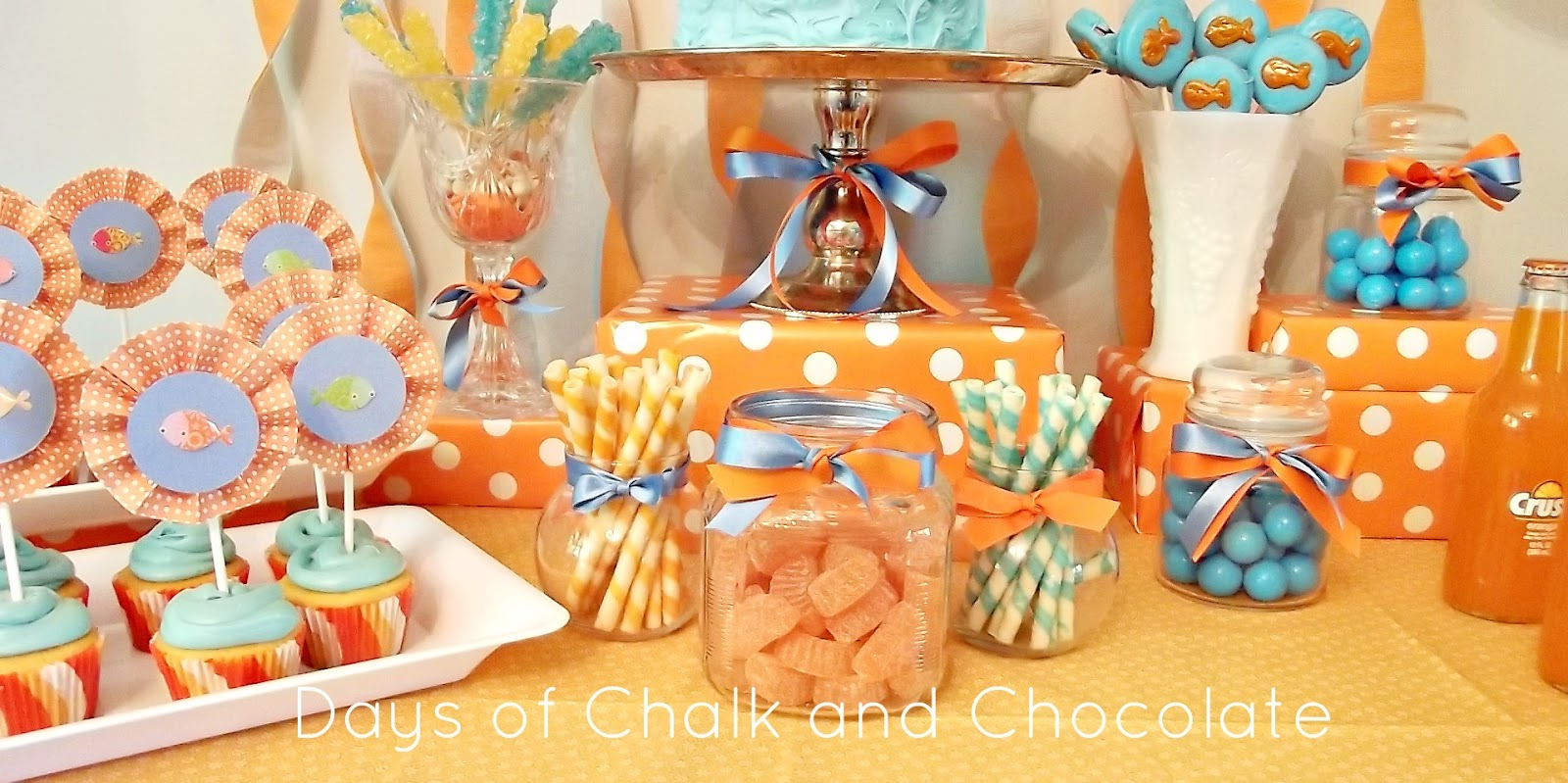 Ellies Goldfish Birthday Party Days of Chalk and Chocolate