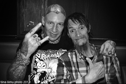 photo of Chris Walters and Chi Pig of SNFU by tiina liimu 2012