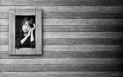 Photography Artwork by Ben Heine - Don't Forget Me with Chinese Model Zhuzhu - Girl Framed
