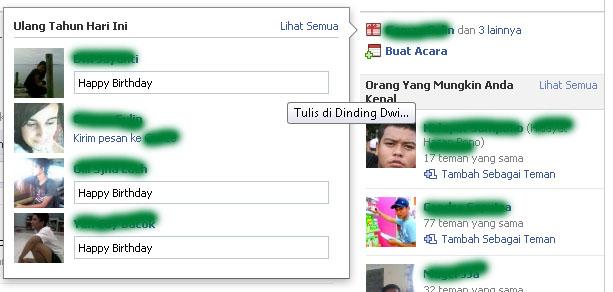 Ucapan Selamat Ulang Tahun Otomatis Teman Facebook